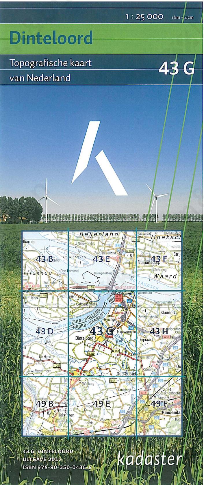 Digitale Topografische Kaart 43G Dinteloord