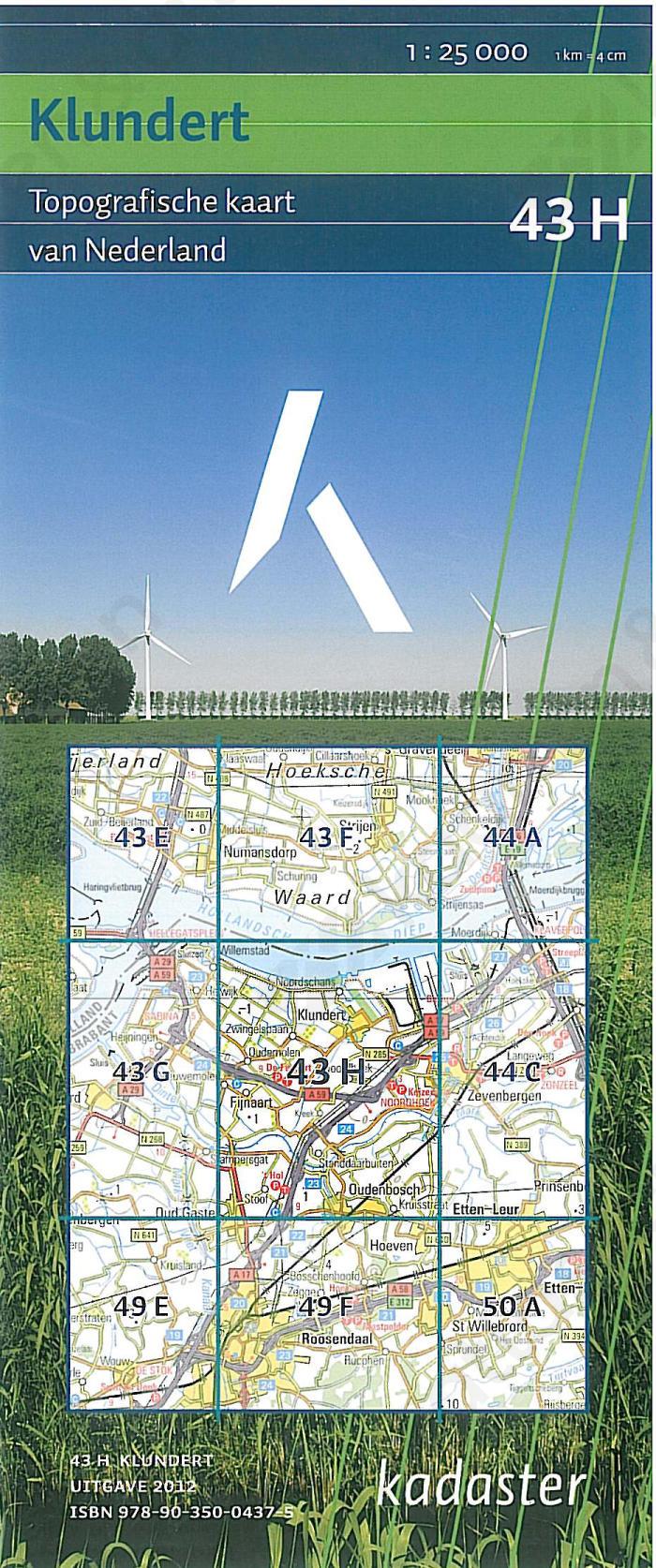 Digitale Topografische Kaart 43H Klundert