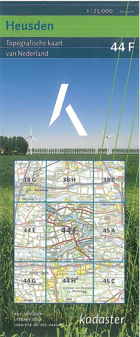 Digitale Topografische Kaart 44F Heusden