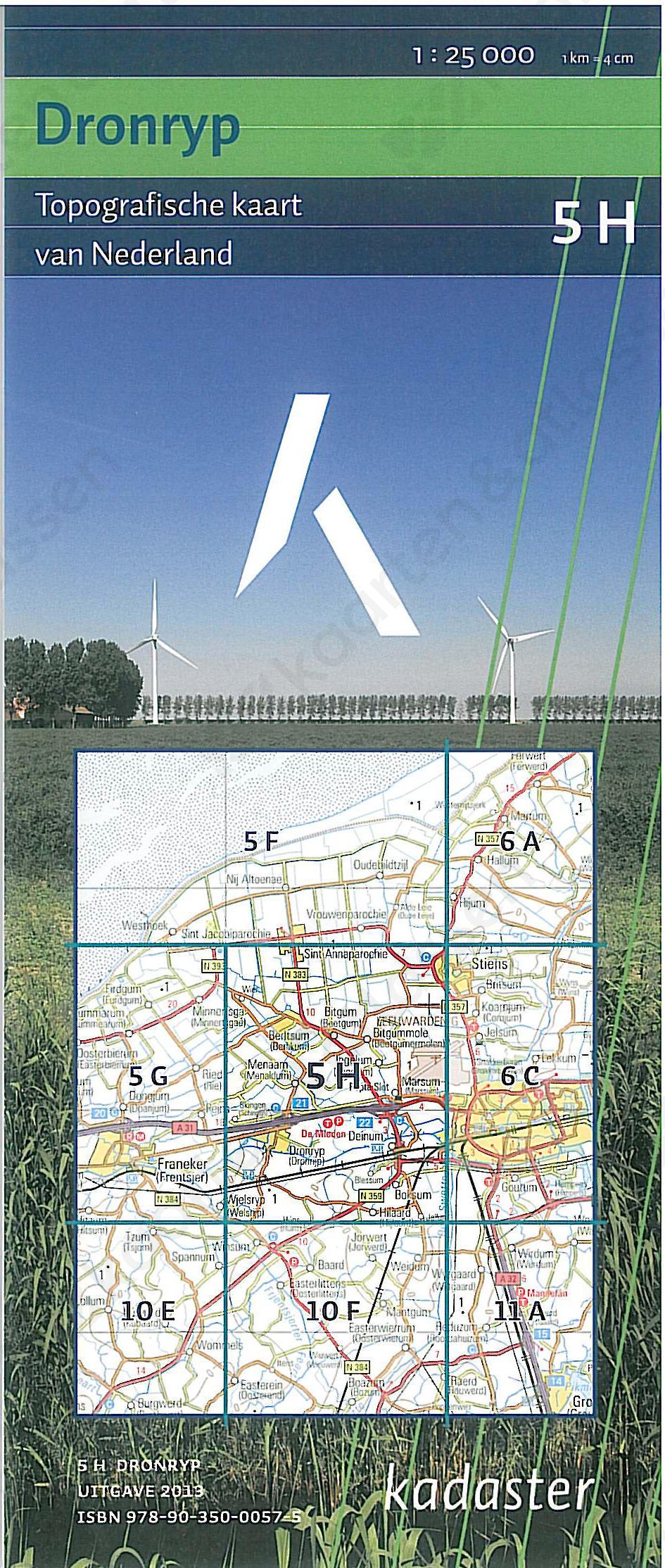 Digitale Topografische Kaart 5H Dronrijp