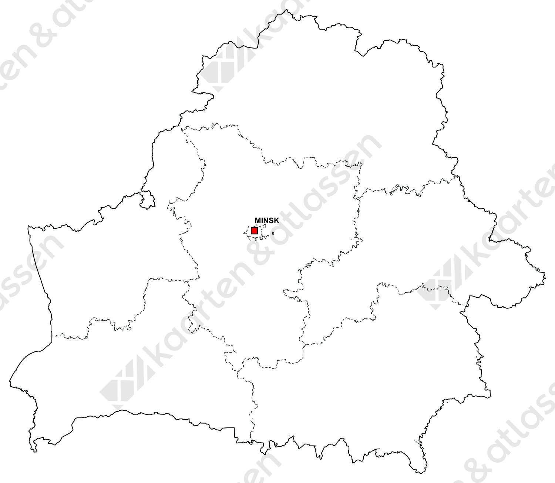 Gratis digitale kaart Wit-Rusland