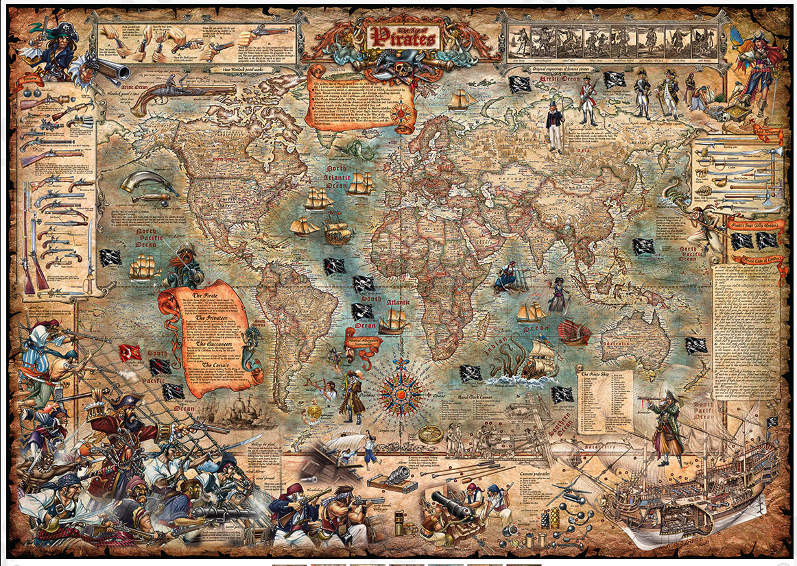 World of Pirates Piratenkaart