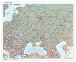 Oost Europa wandkaart