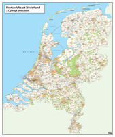 3-cijferige Postcodekaart Nederland 376