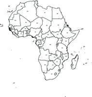 Gratis digitale kaart Afrika