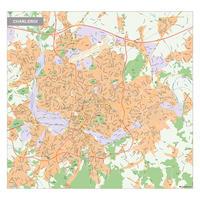 Kaart Charleroi