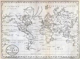 Digitale Wereldkaart Charles William Bazley