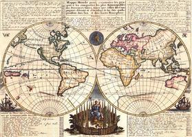 Wereldkaart Chatelain