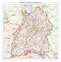 Digitale kaart Baden-Württemberg 107