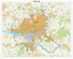 Digitale Stadsplattegrond Hamburg 525