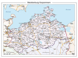Digitale kaart Mecklenburg-Vorpommern 110