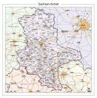 Digitale kaart Sachsen-Anhalt 112