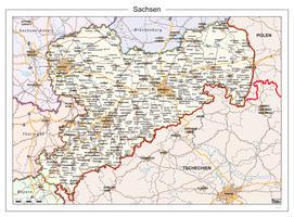 Digitale kaart Sachsen 116