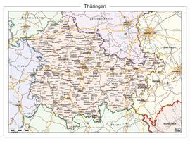 Digitale kaart Thüringen 115