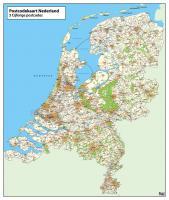 Digitale 3-cijferige Postcodekaart Nederland 376