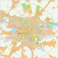 Digitale kaart Boekarest / Bucharest 473