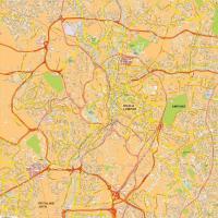 Digitale kaart Kuala Lumpur 771