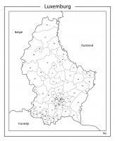 Digitale Postcodekaart Luxemburg 1320