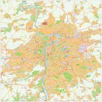 Digitale kaart Praag / Prague 490