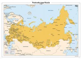 Digitale postcodekaart Rusland 3-cijferig 258