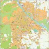 Digitale kaart Wenen / Vienna 500