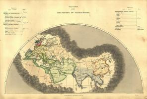 Digitale Wereldkaart Anno 1846 Edward Quin 793