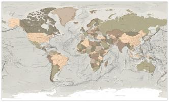 Digitale Wereldkaart Staatkundig XXL 747