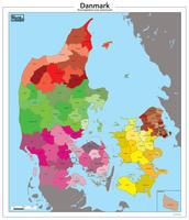 Gemeente kaart van Denemarken