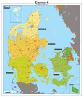 Digitale Regio kaart Denemarken