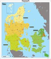 Digitale Basis regio kaart van Denemarken