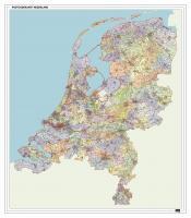 Digitale 2- en 4-cijferige Postcodekaart Nederland met Huishoudens XXL 1261