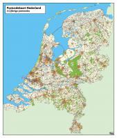 Digitale 4ppc Postcodekaart Nederland in kleur