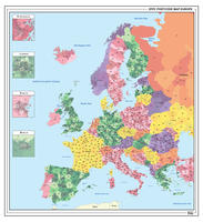 Digitale Postcodekaart van Europa 1382