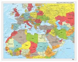 Noord-Afrika, Midden-Oosten en Europa Staatkundig 1317