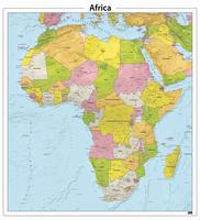 Afrika reliëf kaart