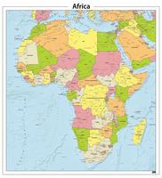 Digitale Afrika staatkundige kaart