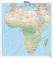 Digitale Afrika natuurkundige kaart