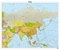 Azië reliëf kaart