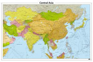 Centraal Azië reliëf kaart