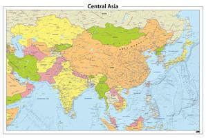 Centraal Azië staatkundige kaart