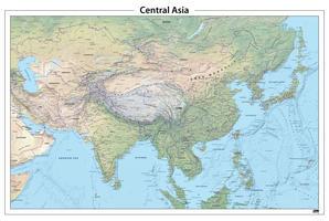 Centraal Azië natuurkundige kaart