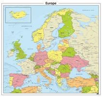 Digitale Europa staatkundige kaart