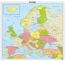 Europa staatkundige kaart