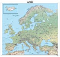 Digitale Europa natuurkundige kaart