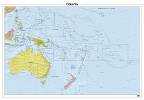 Oceanië reliëf kaart