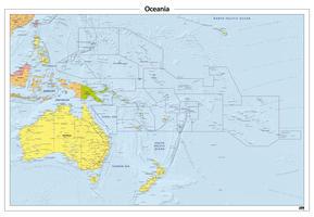 Oceanië staatkundige kaart