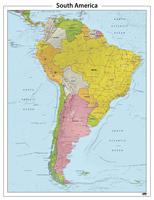 Zuid Amerika reliëf kaart