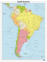 Zuid Amerika staatkundige kaart