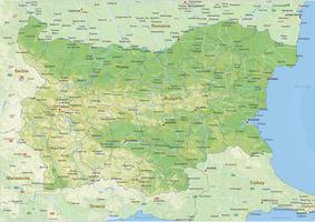 Natuurkundige landkaart Bulgarije