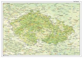 Natuurkundige landkaart Tsjechië